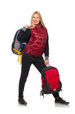 Young woman student with backpack Stock Images
