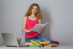 Young woman student Royalty Free Stock Photos