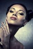Young woman studio fashion portrait Stock Image