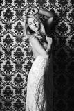 Young woman studio fashion portrait. Stock Photography