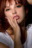 Young woman studio portrait Royalty Free Stock Images