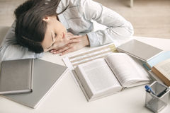Young woman study at home alone education Royalty Free Stock Images