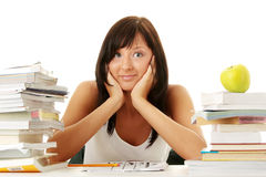 Young woman studying Royalty Free Stock Photo