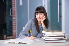 Young woman studying Stock Image