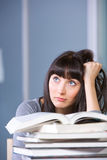 Young woman studying Royalty Free Stock Image