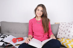 Young woman studying. Royalty Free Stock Photography