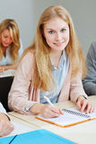 Young woman studying in university Royalty Free Stock Photos