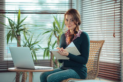 Young woman studying Stock Images
