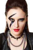 Young Woman styled like rock star Stock Photo