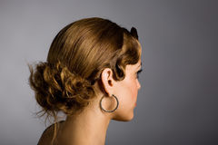 Young woman with a stylish hairdo. Stock Photography