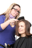 Young woman and stylist Royalty Free Stock Photo