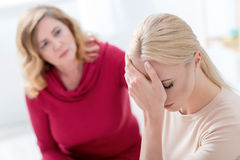 Young woman suffering from depression Royalty Free Stock Images