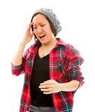 Young woman suffering from headache Stock Photo