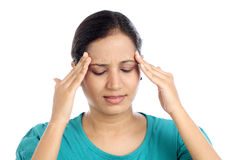 Young Woman suffering from headache Royalty Free Stock Photo