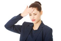 Young woman suffering a headache Stock Image
