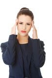 Young woman suffering a headache Royalty Free Stock Photo