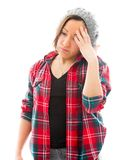 Young woman suffering from headache Stock Photos
