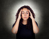 Young Woman Suffering From Headache Royalty Free Stock Photos