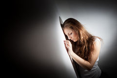 Young woman suffering from a severe depression,anx Royalty Free Stock Image