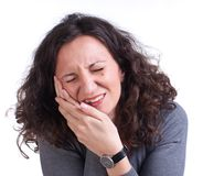 Young woman suffering from a toothache Stock Photo