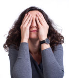 Young woman suffering from a toothache Stock Images