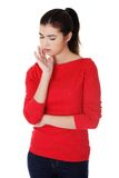 Young woman suffering from toothache Royalty Free Stock Photo