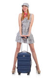 Young woman with suitcase Stock Image