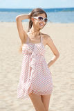 Young woman in summer dress Stock Images