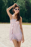 Young woman in summer dress Royalty Free Stock Photo