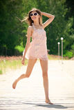 Young woman in summer dress Royalty Free Stock Photos
