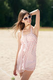 Young woman in summer dress Royalty Free Stock Photography