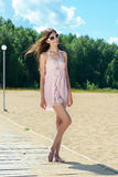 Young woman in summer dress Royalty Free Stock Images