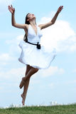 Young woman in summer dress Stock Photo