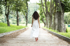 Young woman in summer dress Royalty Free Stock Image