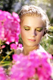 Young woman with summer make-up Stock Photography