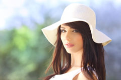 Young woman in summer park. Royalty Free Stock Photo