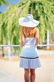 Young woman on summer vacation Royalty Free Stock Photo