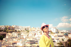 Young woman on summer vacation Royalty Free Stock Images