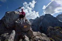 Hundskopf Klettersteig , Zahmer Kaiser, Tirol, Austria stock image