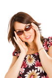 Young woman in sun glasses Royalty Free Stock Image
