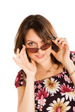 Young woman in sun glasses Stock Image