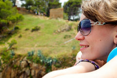 Young woman with sun glasses Royalty Free Stock Images