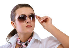 Young woman in sun glasses Stock Photo