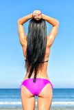 Young woman sunbathes Stock Image
