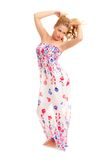 Young woman in sundress Royalty Free Stock Photos
