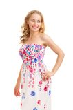 Young woman in a sundress Stock Images