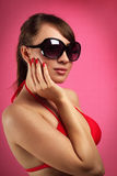 Young woman in sunglasses Stock Image