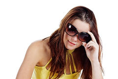 Young woman with sunglasses Royalty Free Stock Image