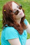 Young woman with sunglasses Royalty Free Stock Photos