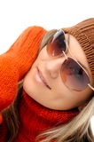 Young woman with sunglasses Stock Image